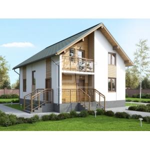 Cтроительство каркасного дома 144м2