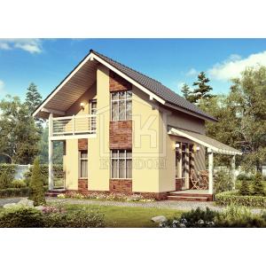 Cтроительство каркасного дома 76 м2