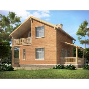 Дом из СИП панелей по проекту РЕАЛ
