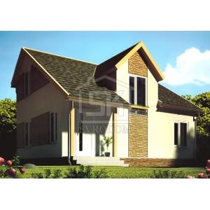 Строительство каркасного дома 107 м2