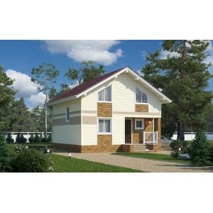 Строительство каркасного дома 112 м2