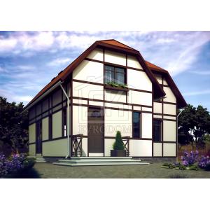 Строительство каркасного дома 153. 00м2