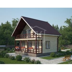Строительство каркасного дома 98 м2